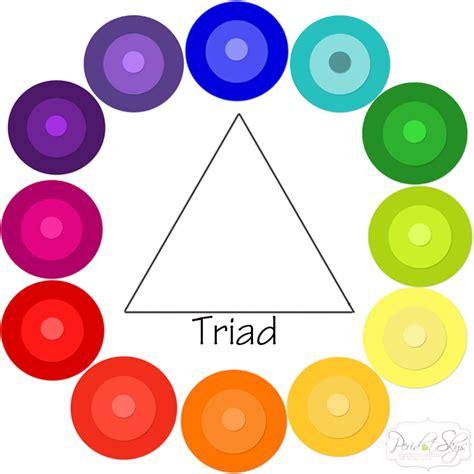 color triad color wheel peridot skies