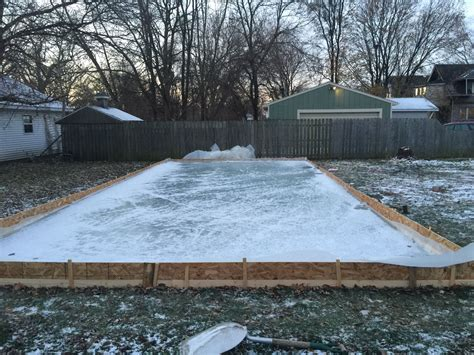 backyard rink kit diy backyard ice rink make