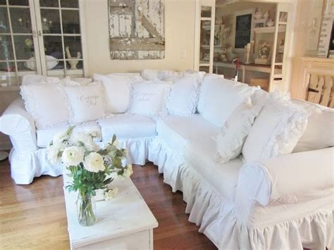 cottage chic slipcovers 25 beste idee 235 n over shabby chic sofa op pinterest