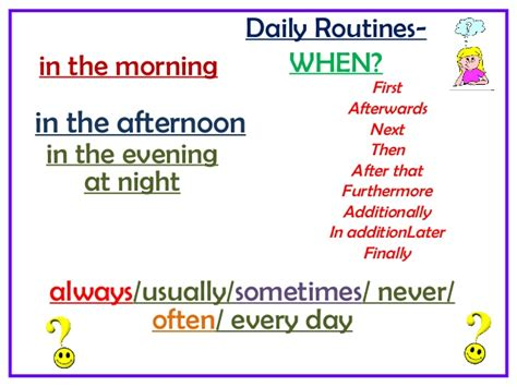 my next home phrasal verbs for daily routines