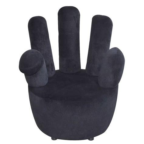 poltrona mano poltrona in velluto nero a forma di mano vidaxl it