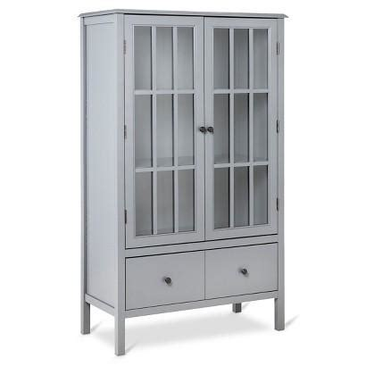 cabinet with glass doors and drawers windham grey cabinet with drawer