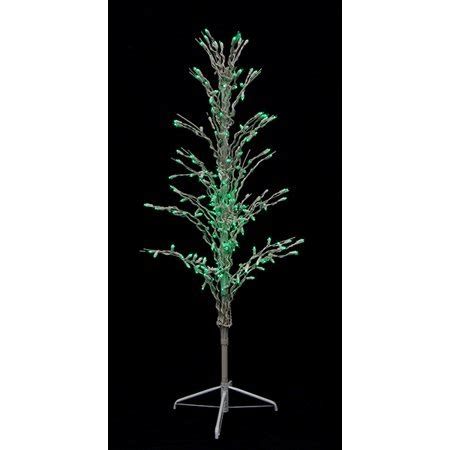 pound landscape christmas trees 4 green led lighted cascade twig tree outdoor yard decoration walmart
