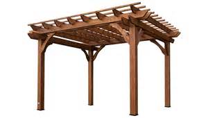 Cedar pergola with sturdy beams for patio shade and relaxation