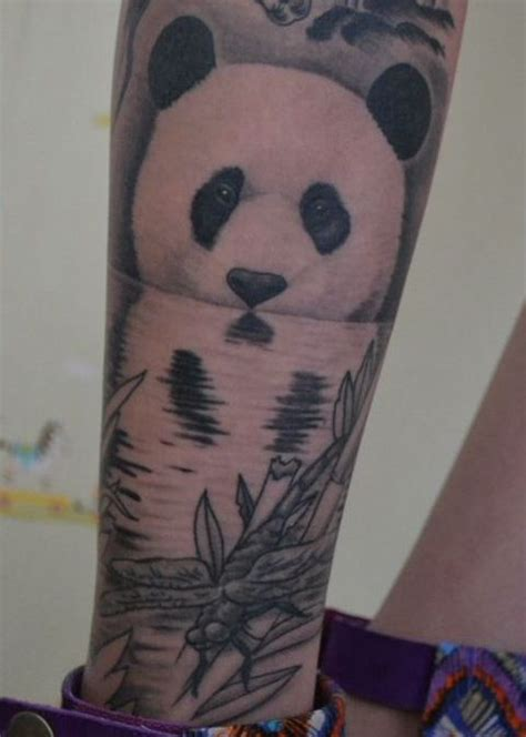blue panda tattoo 100 awesome animal tattoos