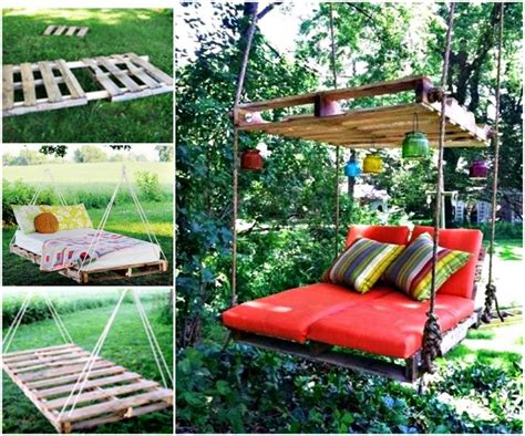 Hanging Pallet Bed by 17 Best Ideas About Pallet Swing Beds On