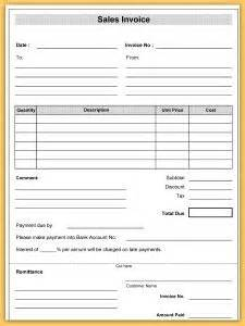 sale or return invoice template sales invoice template