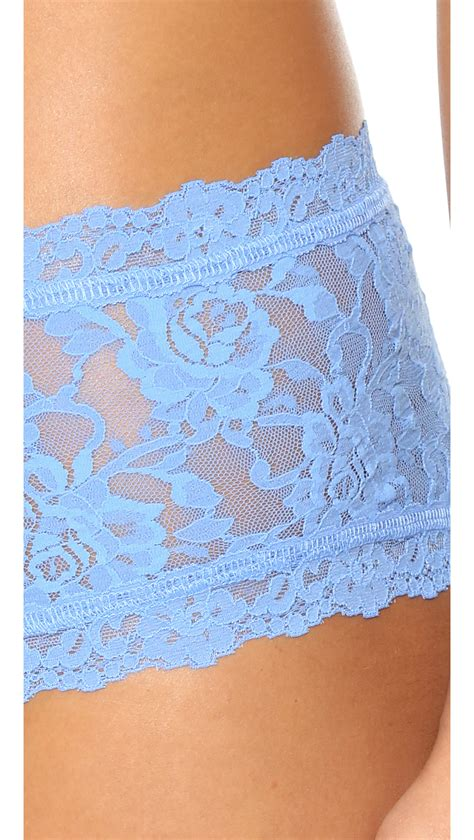 Lace Boy Shorts hanky panky signature lace boy shorts in blue lyst