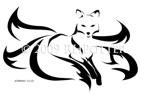 five tailed kitsune by rhpotter on deviantart