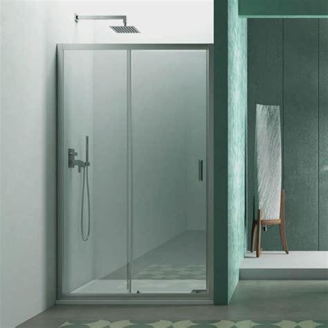 porta cristallo doccia porta doccia per nicchia 140 cm apertura scorrevole in