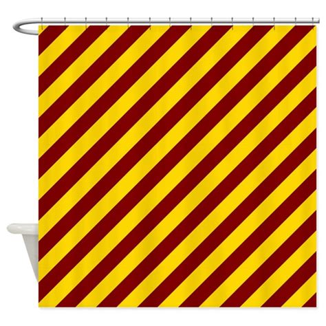 and gold striped maroon and gold striped shower curtain by thetestshop