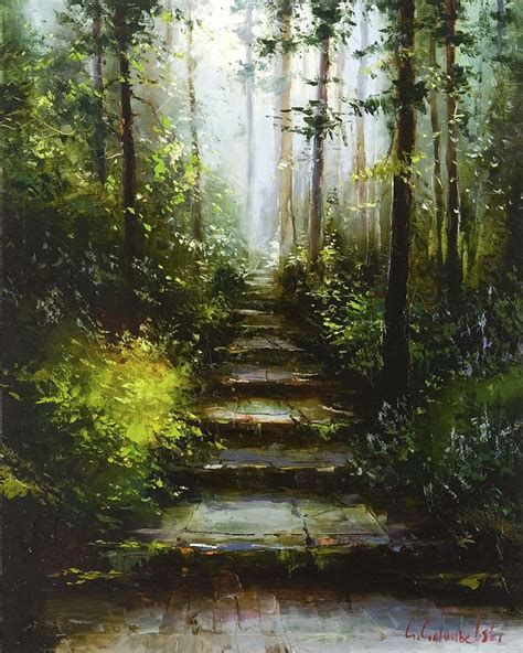 acrylic painting forest tutorial 1000 ideas about forest painting on abstract