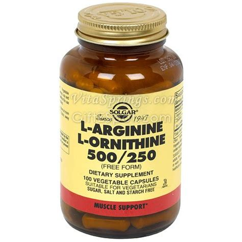 l arginine vegetables solgar l arginine l ornithine 500 250 mg vegetable