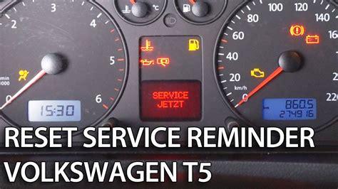 reset service interval  transportercaravelle