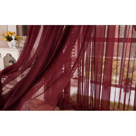 wine colored curtains flowing wine color yarn solid sheer curtains