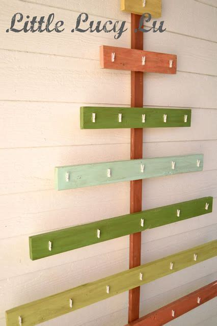 card holders christmas trees and command strips on pinterest