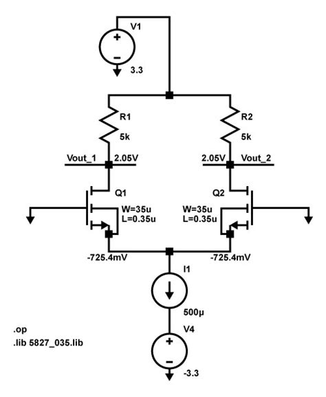 mosfet transistor noise the basic mosfet differential pair lekule