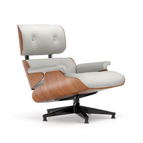 Charles Eames Lounge Chair by Armchair Eames Lounge Chair Cherry Grey Leather
