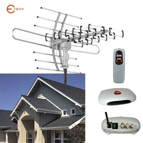 hdtv outdoor amplified antenna ft cable rotor remote