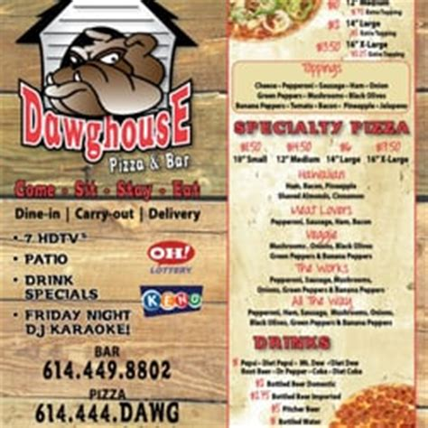 dawg house pizza columbus ohio dawghouse pizza bar sports bars yelp