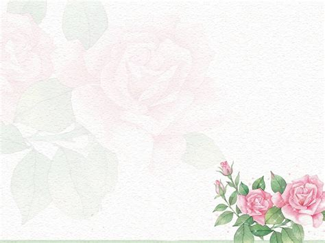 powerpoint templates free flowers flower rose pattern background hq free download 10887
