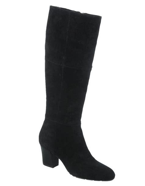 franco sarto suede high heel boots in black lyst