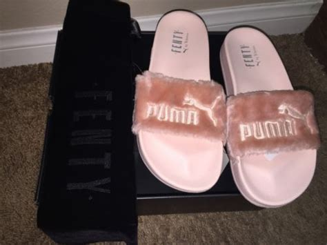 Sandal Fur Slide Fenty Rihana Pink x rihanna leadcat fenty fur slide sandal pink silver 362266 04 size 8 5 what s it worth