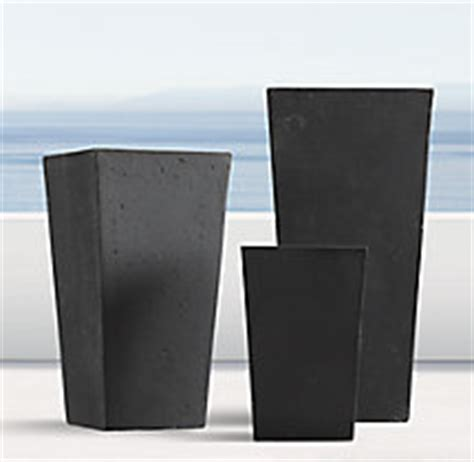 Weathered Cast Planters by Weathered Cast Tapered Planter