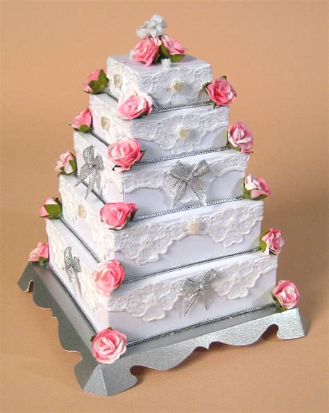 templates for wedding cake boxes a4 card making templates for 3d 5 tier wedding cake