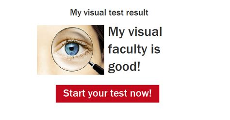 Test For Blindness Your Visual Test Result