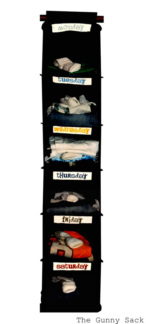 someday crafts weekly clothing organizer