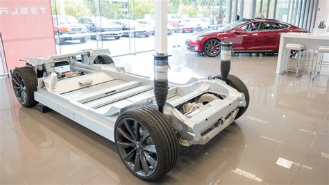 Tesla Model S Chassis The Tesla Model S Skateboard Rolling Chassis Is A Thing