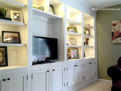 built in wall cabinets living room s built ins reveal and drill