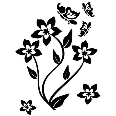imagenes de mariposas en negro vinilos folies vinilo decorativo flor con mariposa