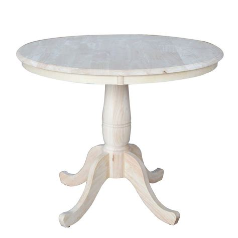 international concepts unfinished pedestal dining table k