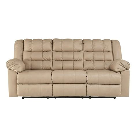 beige leather reclining sofa ashley brolayne leather reclining sofa in beige 8320188