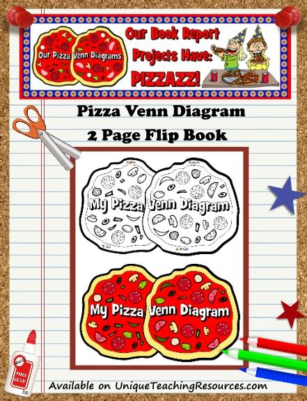 pizza book report template pizza venn diagram book report project templates