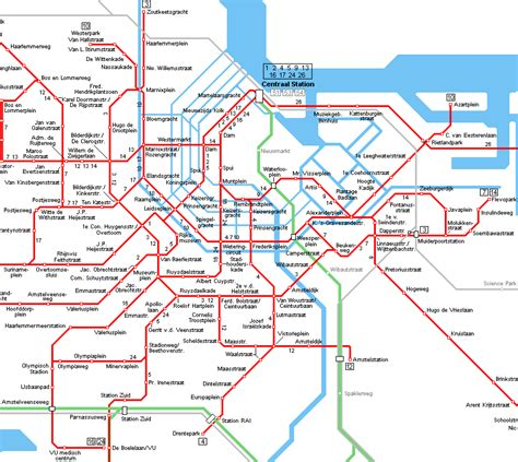 Amsterdam Search Tram Map Amsterdam Search Netherlands
