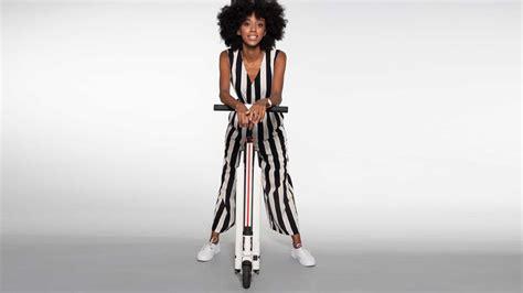 inokim mini  beyaz renk  elektrikli scooter  leopar