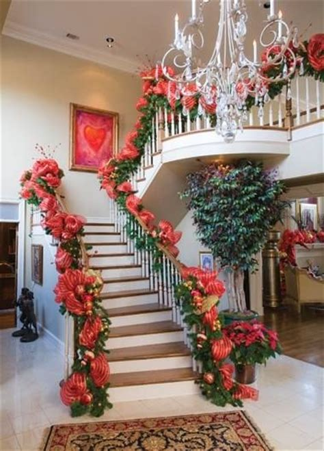 how to decorate banister simply and elegantly for christmas 285 best images about staircases stairs banisters on