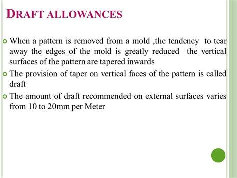 pattern allowances ppt basic mechanical engineering ppt download