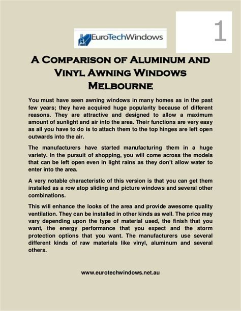 awning windows melbourne a comparison of alumunium and vinyl awning windows melbourne