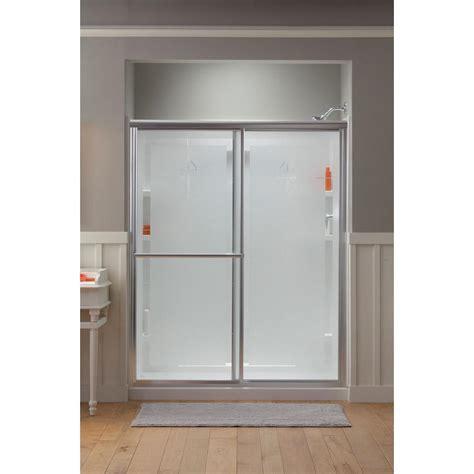 sterling sliding shower doors sterling deluxe 59 3 8 in x 70 in framed sliding shower