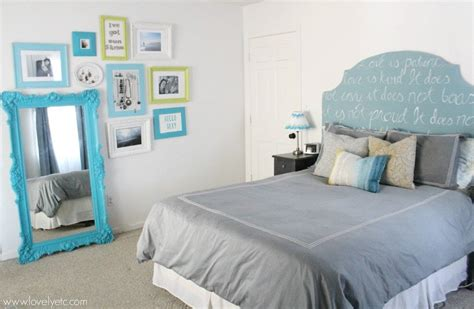 blue green and gray bedroom house tour lovely etc