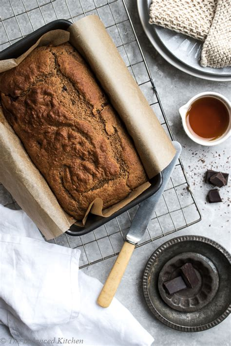 Banana Chocolate Melted vegan banana bread with melted chocolate chunks the