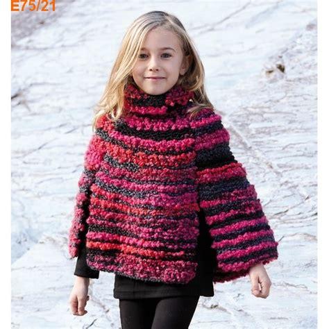 Modele Poncho Tricot Fille Gratuit mod 232 le 224 tricoter gratuit poncho fille katia happy