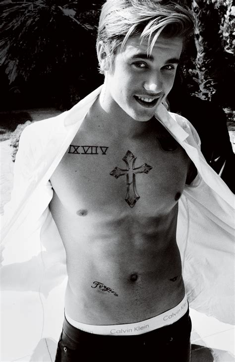 justin bieber chest tattoo 6 who regretted dedicating a to an