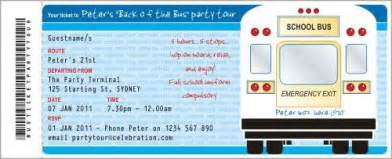 back of the bus invitation