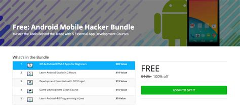 tutorial android studio bundle deal pick up the android mobile hacker bundle for free
