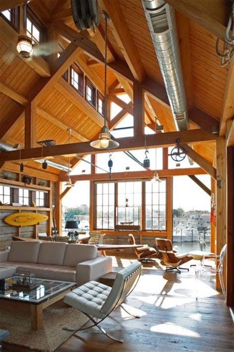 Open Cabin Floor Plans boat house rustic living room philadelphia by hugh